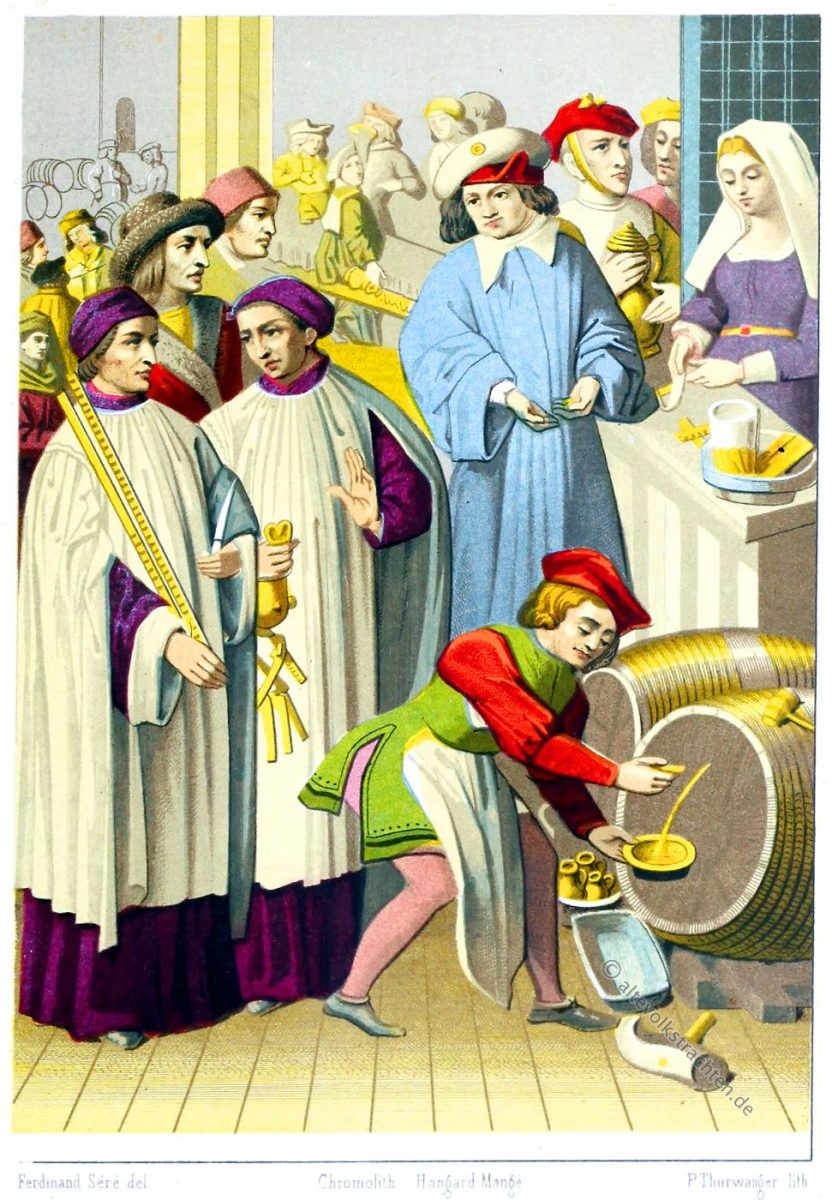 Cabaretier des 15. Jahrhunderts in Belgien.