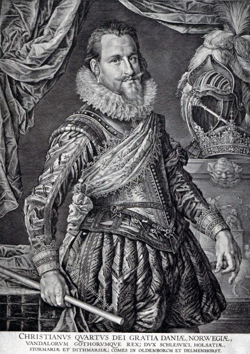Christian IV., König, Dänemark, Porträt, Dreissigjähriger Krieg,