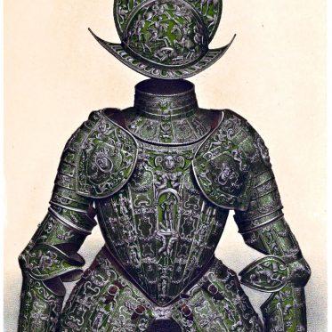 Italienische Damaszener Rüstung des 16. Jahrhunderts.