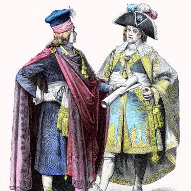 Deputierter und Galakostüm des französischen Direktoriums.
