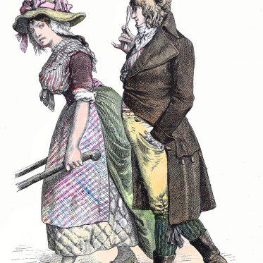 Bürgerliche Kostüme des Direktoriums 1796. Zur Geschichte der Kostüme.