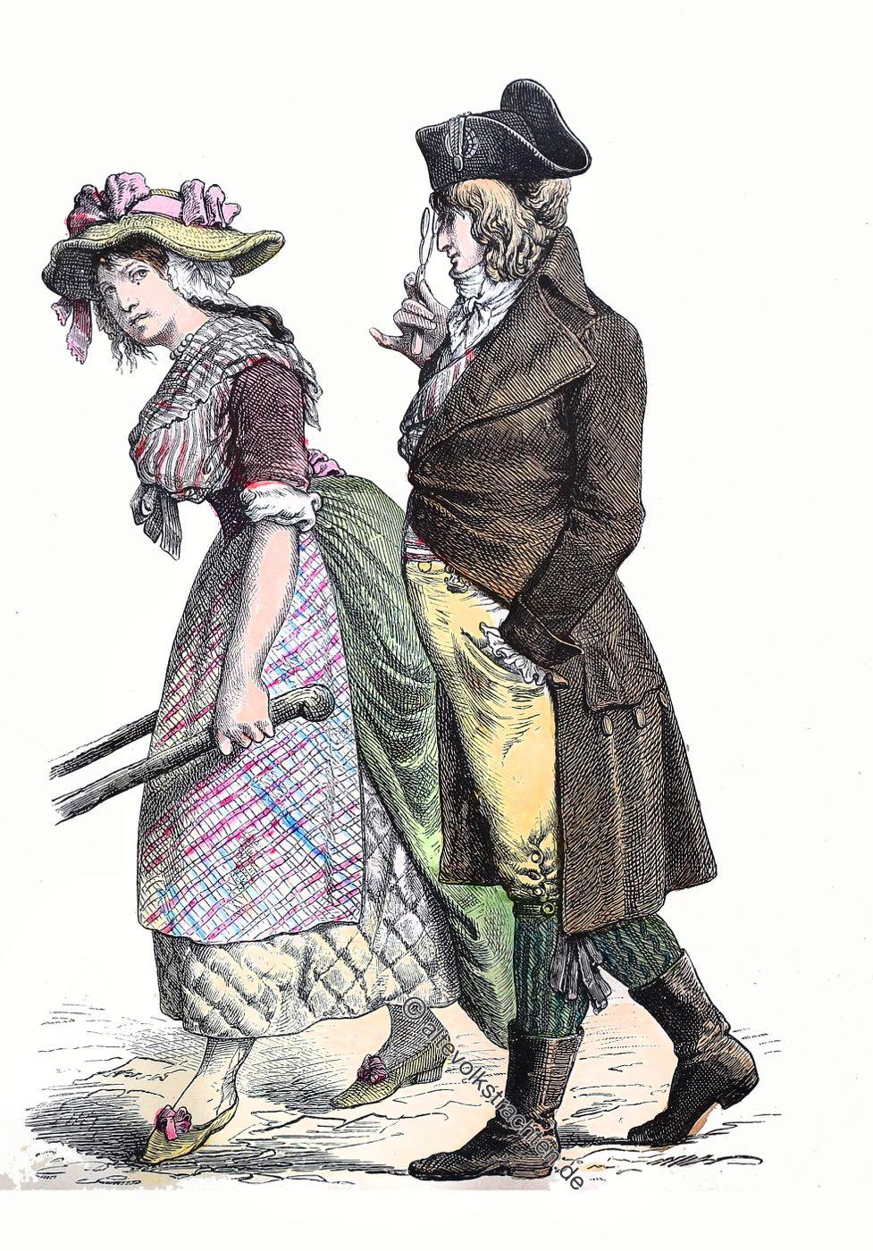 Münchener Bilderbogen, Direktorium, directory, directoire, Kostüme, Kleidung, Französische Revolution