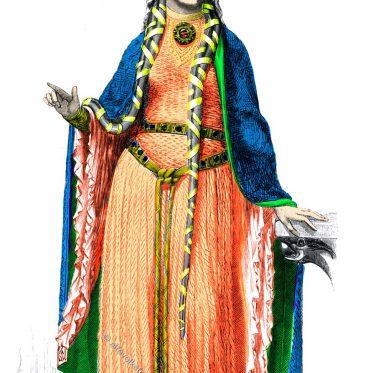 Frisur, Haar und Barttracht im 12. Jahrhundert.