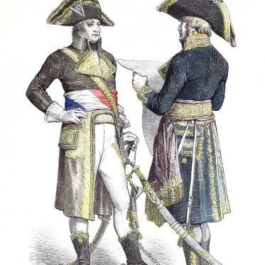 Direktorium. Uniformen der Französischen Generäle von 1799-1800.