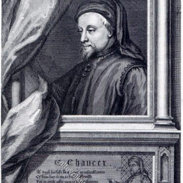 Geoffrey Chaucer englischer Dichter und Autor des Mittelalters .