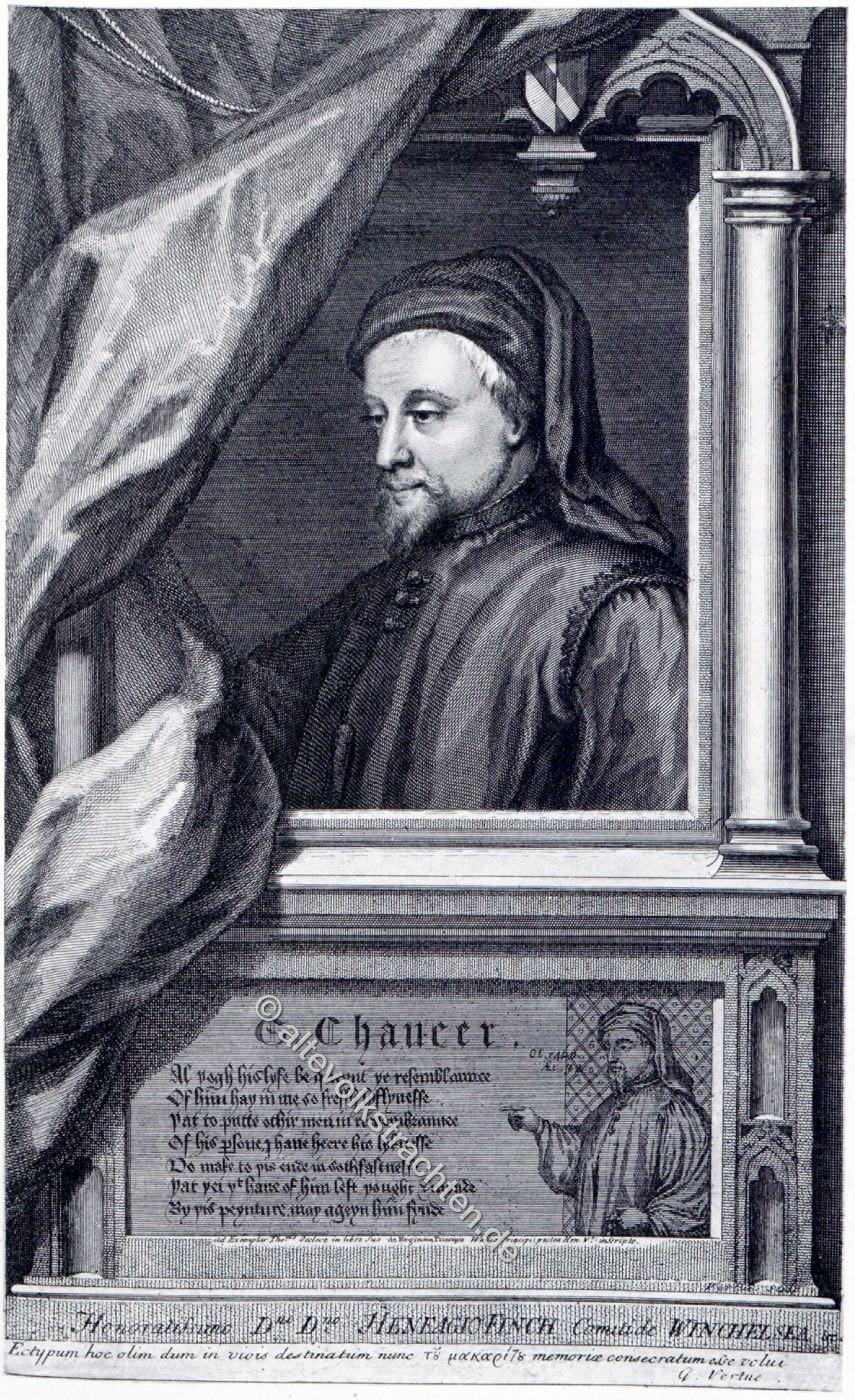 Geoffrey Chaucer, Dichter, Autor, England, Mittelalter