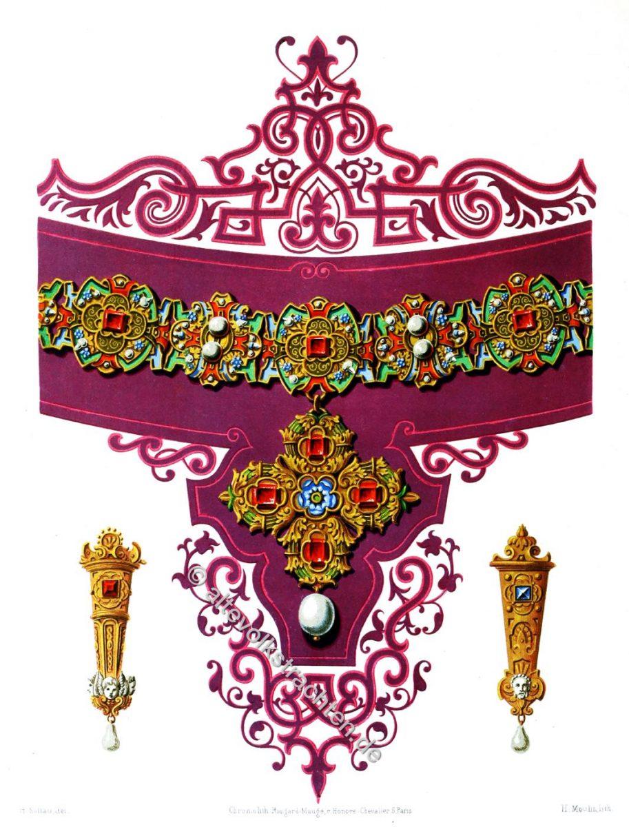 Schmuck, Renaissance, Hans Mielich, Halskette, Ohranhänger,