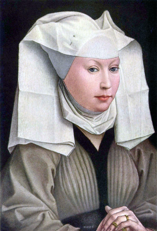 Haube, Mittelalter, Mode, Rogier van der Weyden