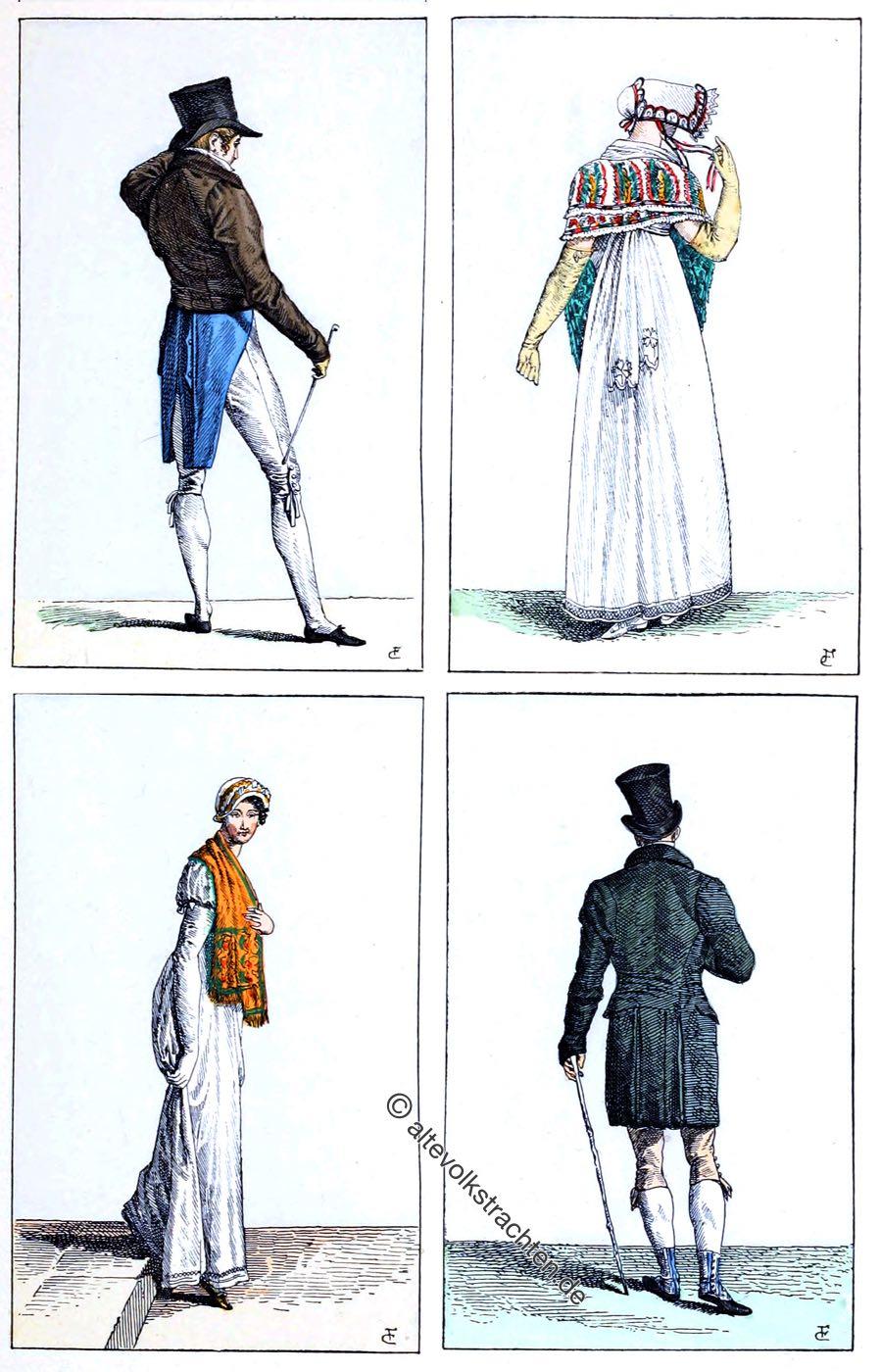 Merveilleux, Incroyable, Empire, Mode, Kostüme, Henri Bouchot