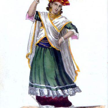Asiatisches Tanzkostüm. Indien um 1830.