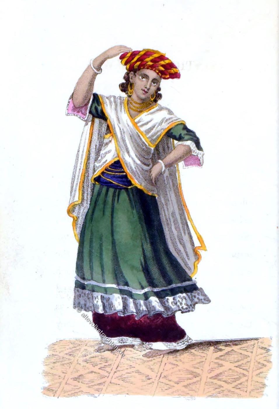 Asiatische Kostüme, Rudolph Ackermann, Tanzkostüm, Indien, Tänzer