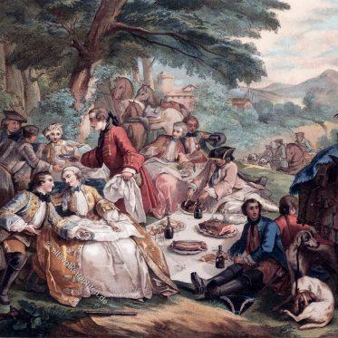 Rast bei der Jagd von Charles André van Loo, 1737.