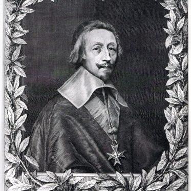 Kardinal Richelieu, französischer Staatsmann.