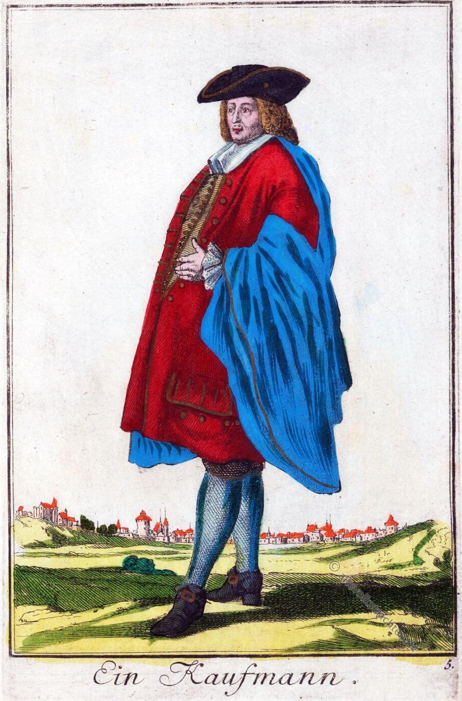 Kaufmann, Kleidung, Kostüm, Barock