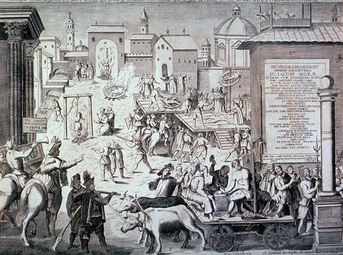 Folter, Hinrichtung, Salbader, Mailand, Pest