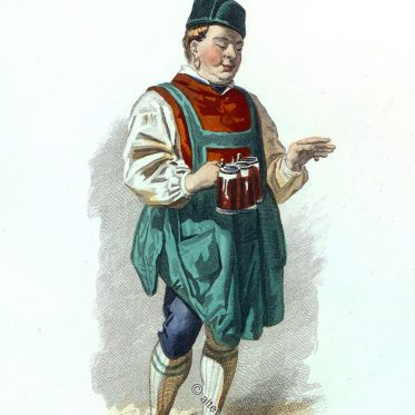 Gastwirt aus Miesbach, Oberbayern um 1800.