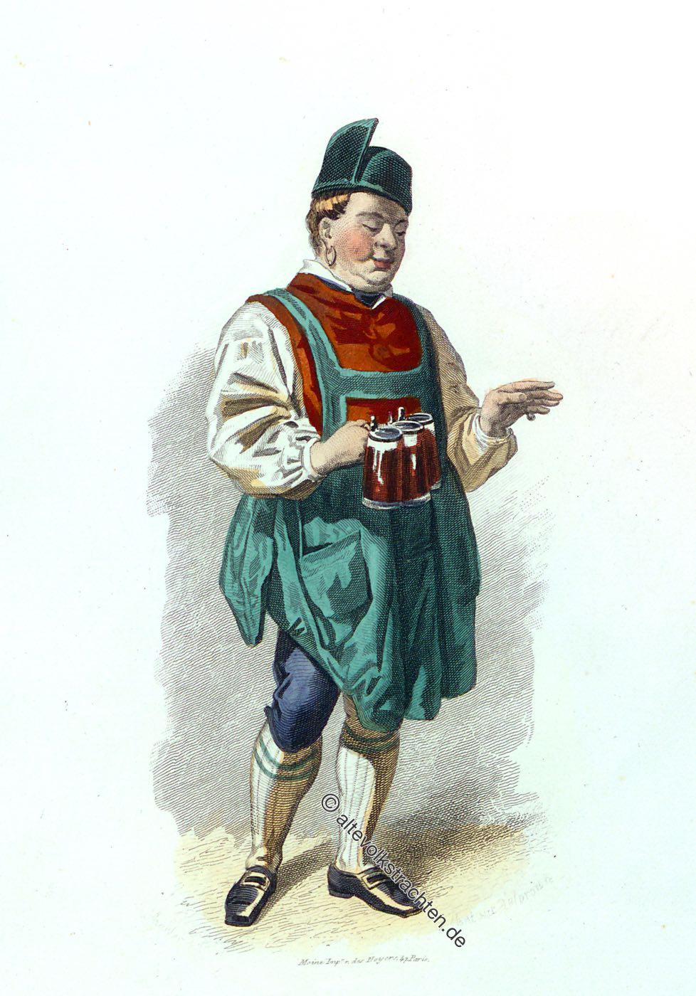 Gastwirt, Miesbach, Auberciste , costume, Trachten, Baviere, Allemagne