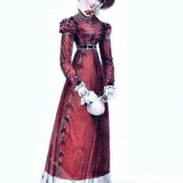 Promenadenkleid. Londoner Mode des Regency, 1824.