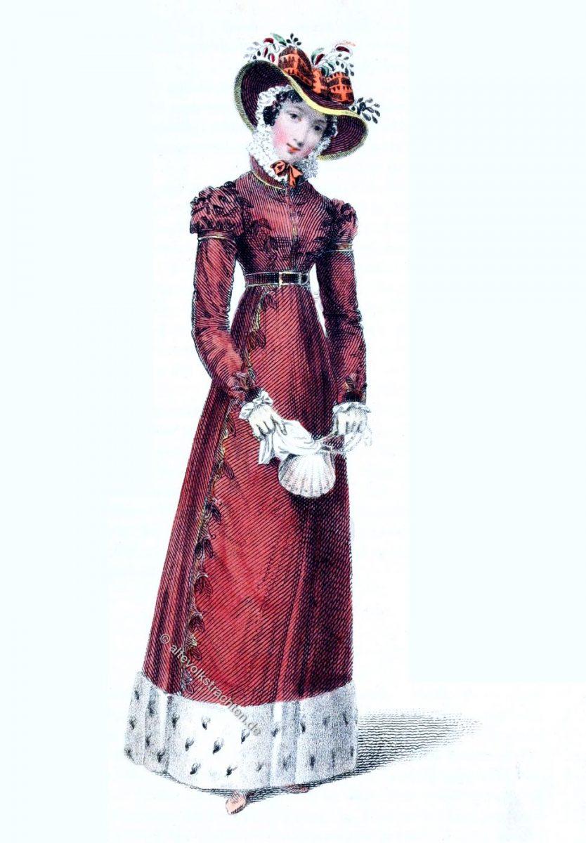 Regency, Promenadenkleid, Mode, Kleid, London