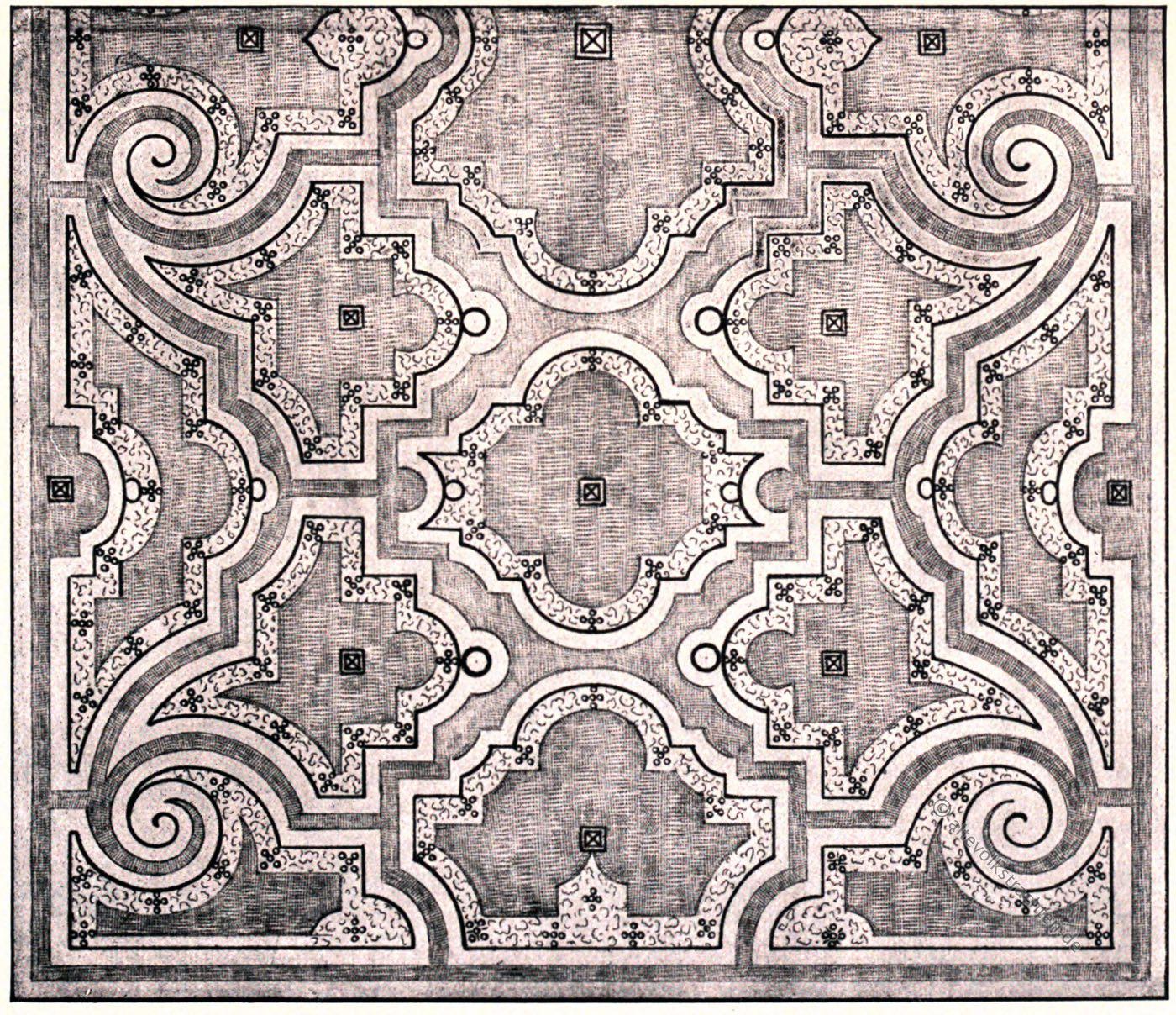 Mollet, Parterreentwurf, Palais Luxembourg, Paris, Garten,