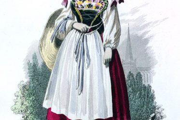 Tracht, Bäuerin, Neuweiler, Elsass,