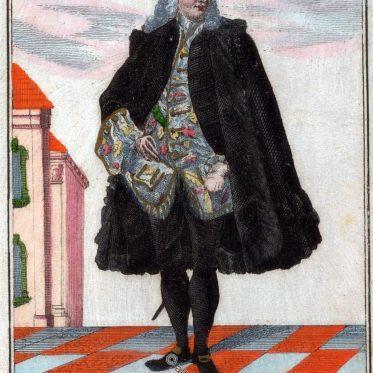 Nürnberger Bräutigam im 17. Jh. Tyroff`s Trachtenbuch.