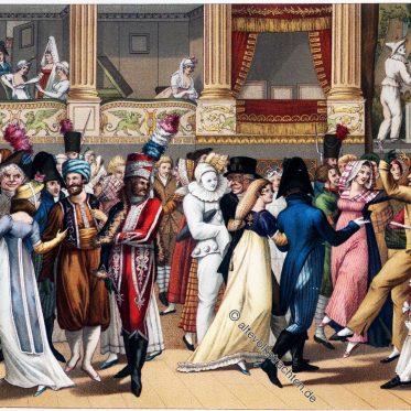 Maskenball in der Pariser Oper 1804.
