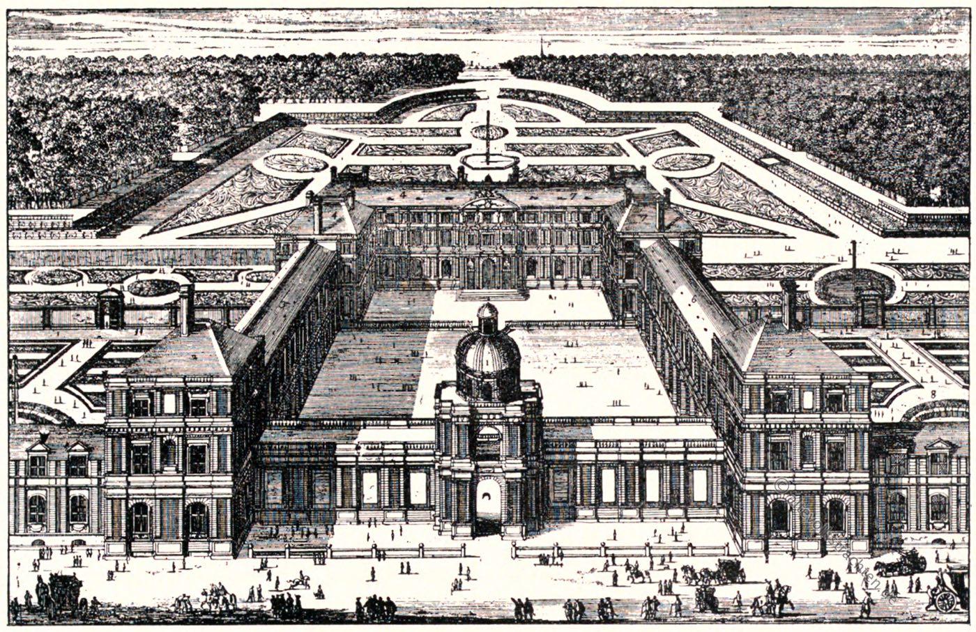 Paris, Palais Luxembourg, Perelle, Gartenanlage