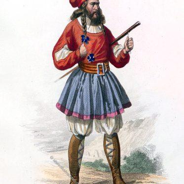 Sardinien. Mann in der Tracht von Tresnuraghes.