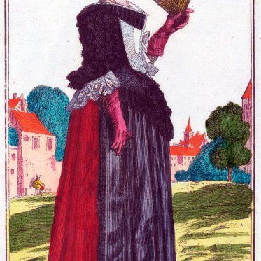 Eine Frau in Strassengarderobe zu Beginn des 18. Jh.