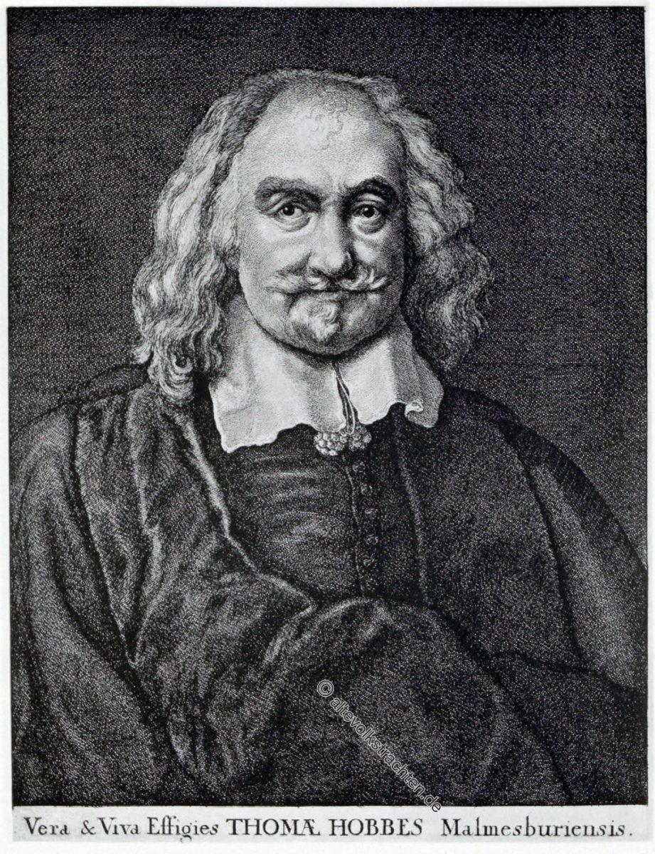 Thomas Hobbes, Philosoph, England, Portrait, Barock