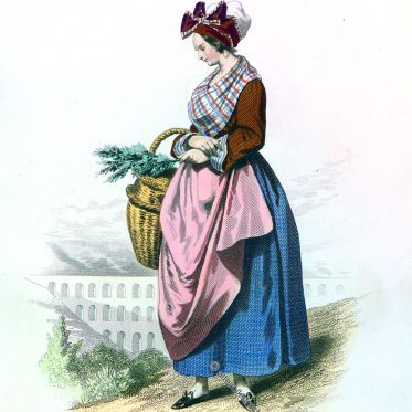 Frau aus der Umgebung von Nîmes Anfang des 19. Jh.