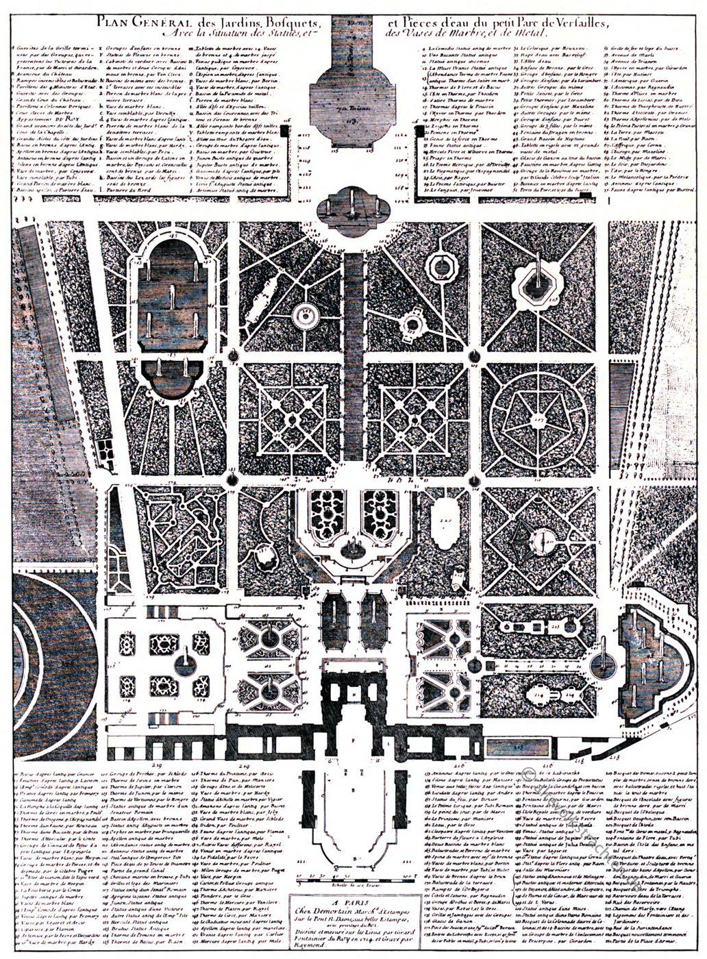 Versailles, Demortain, Gartenanlage, Barock