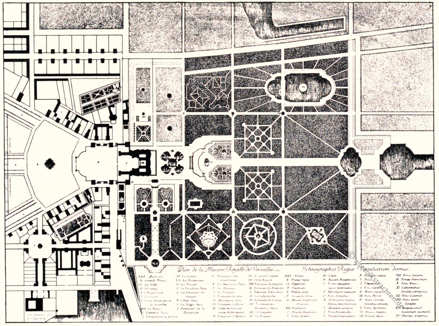 Versailles, Israel Silvestre, Barock, Garten