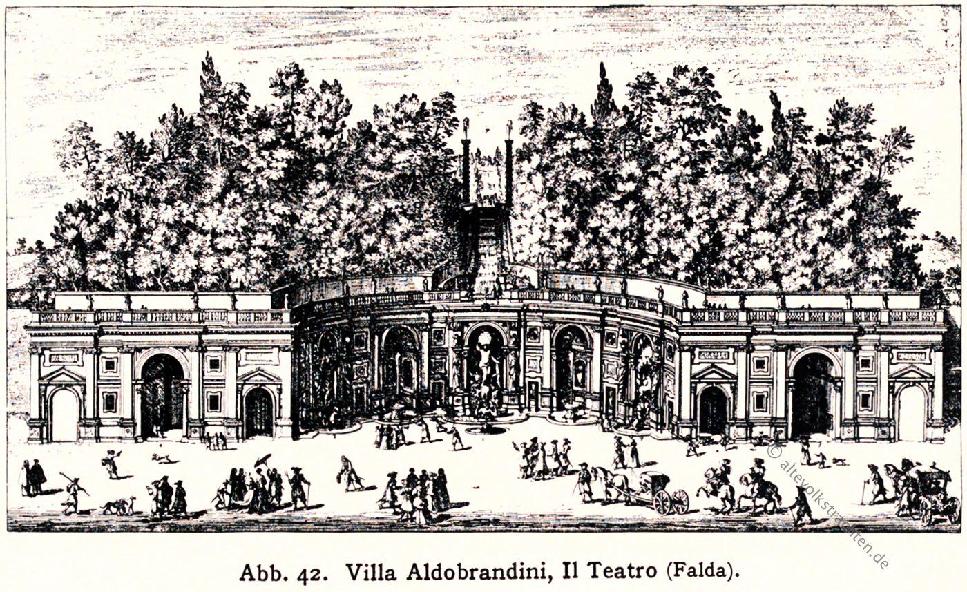 Villa Aldobrandini, Teatro, Gartenanlage, Barock