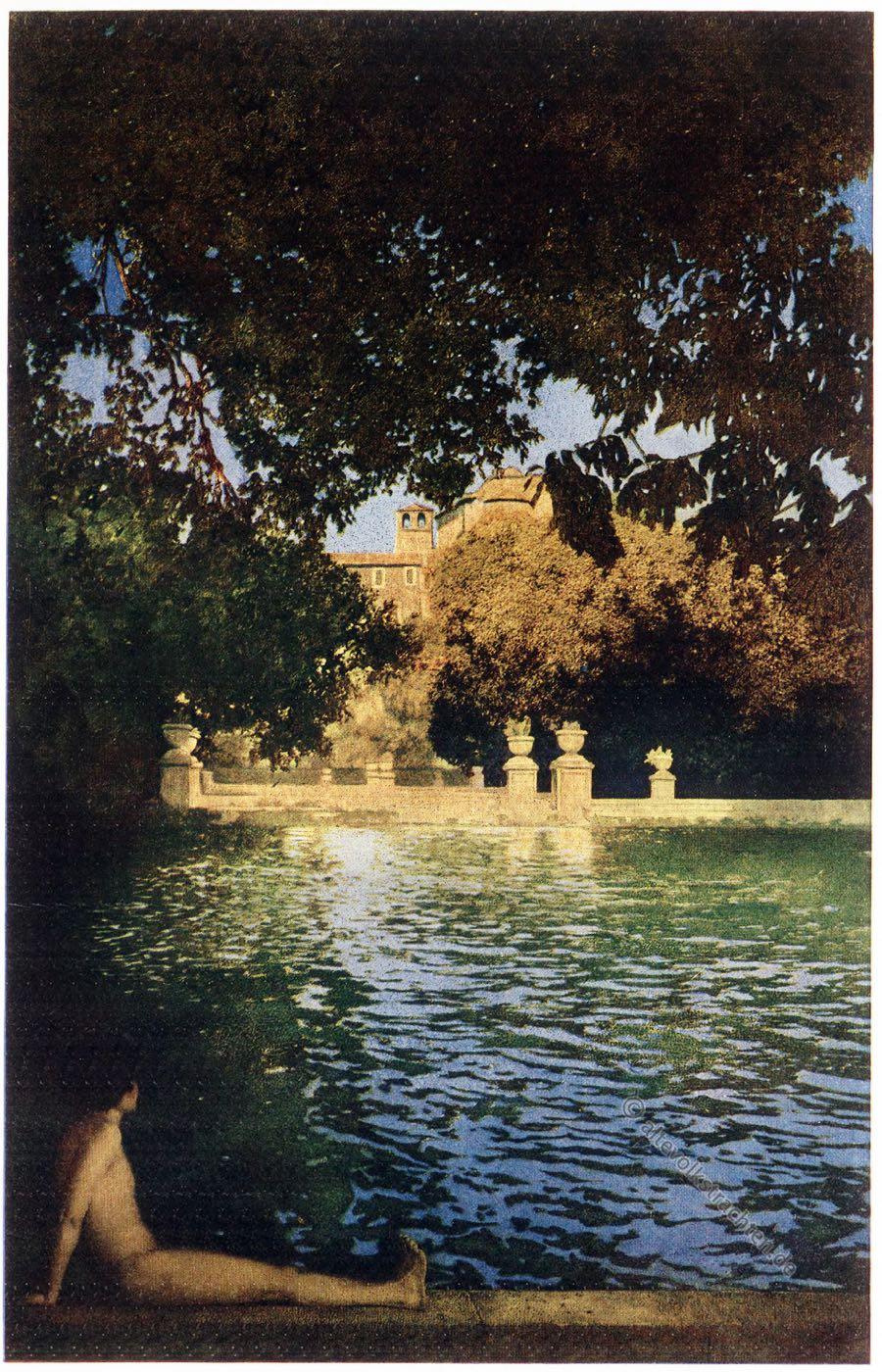 Italian villas, Garden, Pool, Villa D'Este, Tivoli