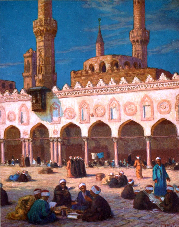 Al-Azhar, Cairo Moslem University, Theological Students, Etienne Dinet