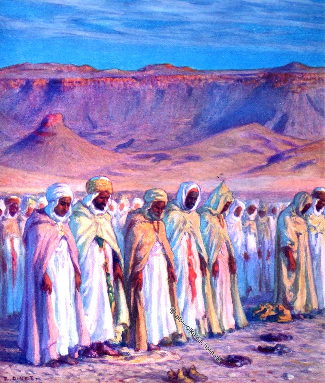 عيد الفطر, Etienne Dinet, Ramadhan, Moslems, Festival, Arabia, Prayer,