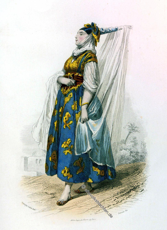 Algerien, Jüdin, Trachten, Kleidung, Kostüm, Verheiratet, Maghreb