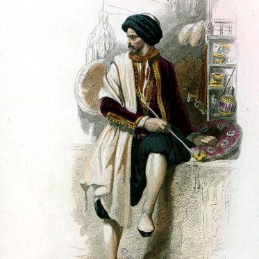 Jüdischer Kaufmann aus Algerien, Beginn des 19. Jh..