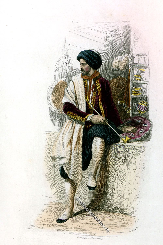 Kostüm, Algerien, Jüdischer Kaufmann, Tracht, Händler, Jude
