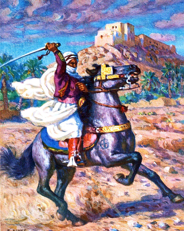 Arab, Horseman, Desert, Araber, hengst, Etienne Dinet