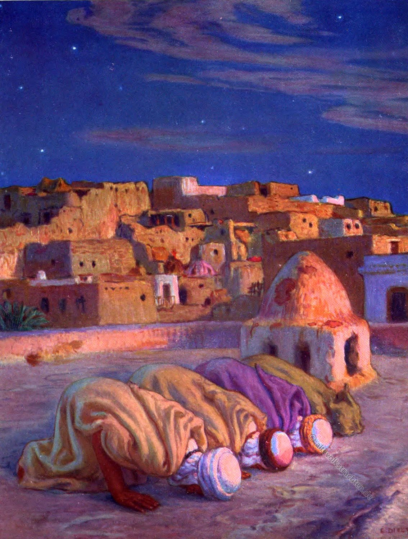 As Sidjah, Prostration, Quran, Surah, Etienne Dinet,Moslems, Prayer