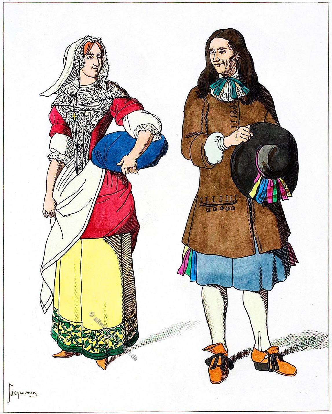 Paris, Bauerntrachten, Barock, 17. Jahrhundert, mode, kostüme