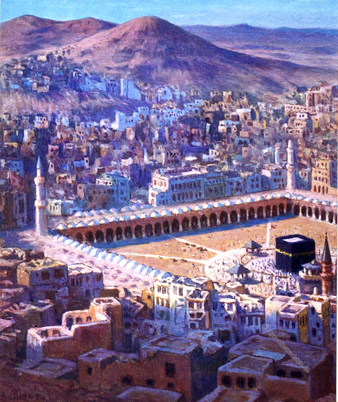 Makkah, Birds-eye View, Jabal Abu-Qubais, Sacred City, Etienne Dinet