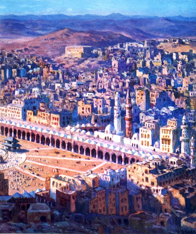 Mekka, Birds-eye View, Jabal Abu-Qubais, Sacred City, Etienne Dinet