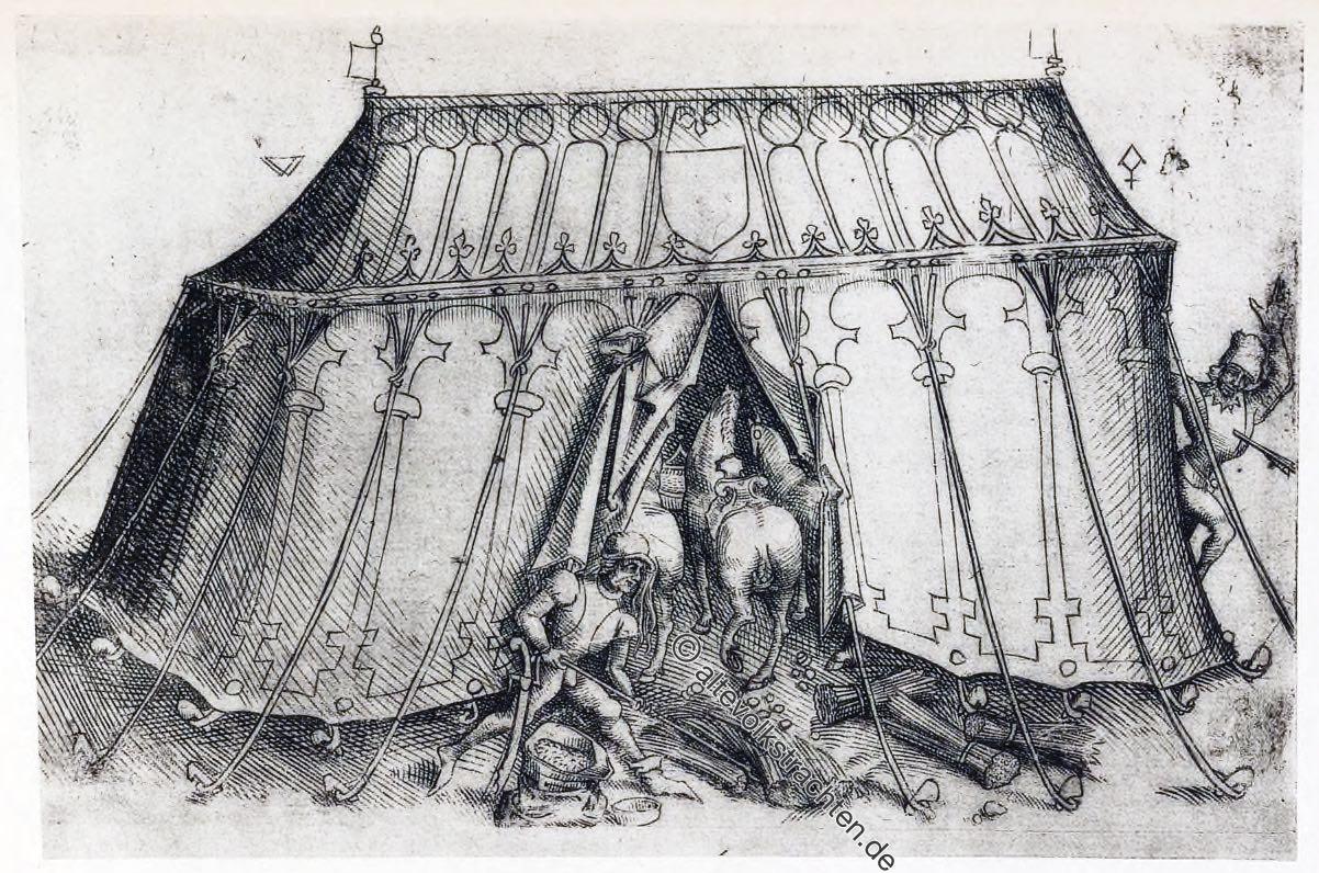 Pferdestall, Burgund, Armee, Mittelalter