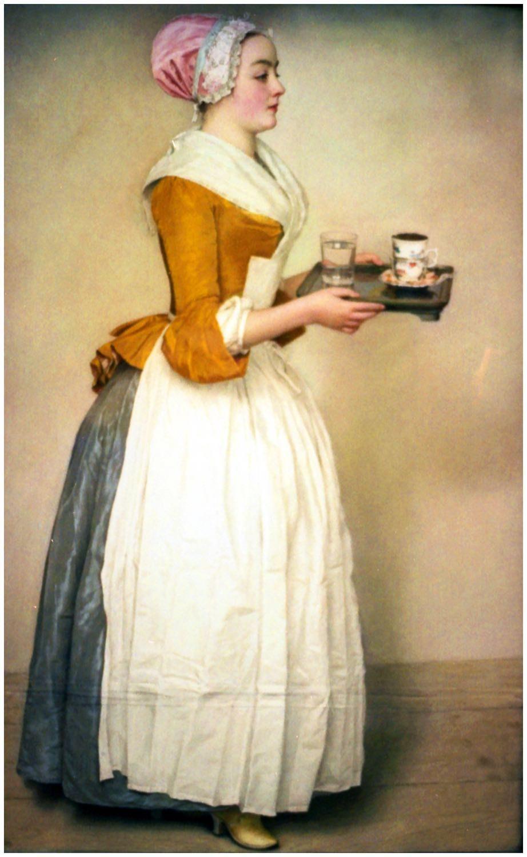 Caraco, Mode, Rokoko, Schokoladenmädchen , Jean-Etienne Liotard,
