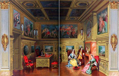 Auguste Racinet, Empfangssaal, Rokoko, Barock, Paris, Interieur