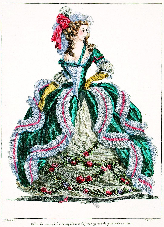 Französisches Hofkleid, Rokoko, La galerie des modes et costumes français